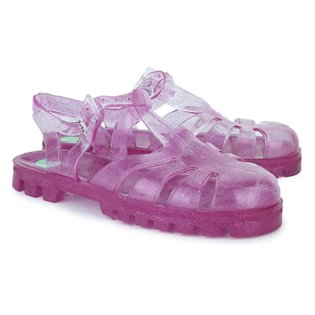 Raspberry Glitter Jelly Shoes