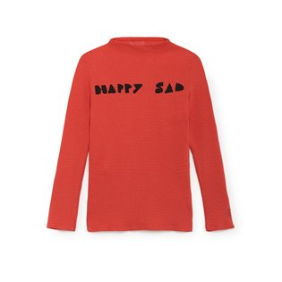 Happy Sad Full Turtle Neck T-Shirt