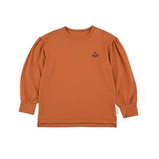 Cherries Baggy Long Sleeve Tee - Brick