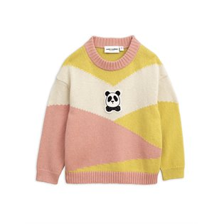 Panda Knitted Wool Pullover - Pink