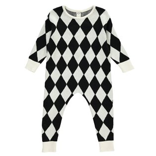 Beau Loves Baby Knit Romper - Harlequin