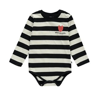 Beau Loves Natural & Black Stripes AOP Body Suit
