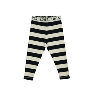 Beau Loves Baby Slim Pants - Off White/Black Stripes