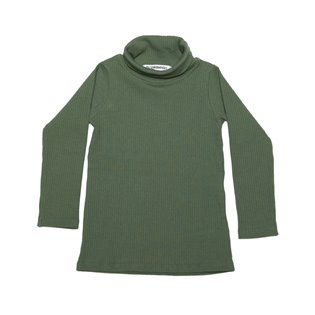 Rib Turtle Neck - Duck Green