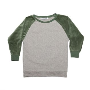 Velvet Sweater - Grey - Duck Green