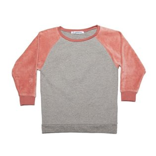 Velvet Sweater - Grey - Raspberry