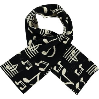 Beau Loves Knit Jacquard Scarf - Music AOP
