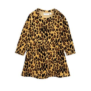 Leopard Velour Dress - Beige