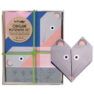 Origami Notepaper Set - Mouse