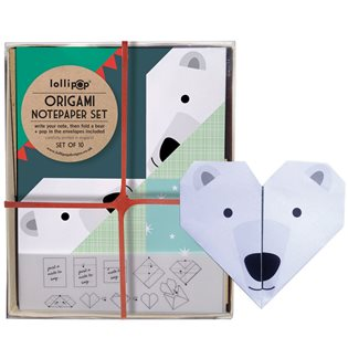 Origami Notepaper Set - Polar Bear