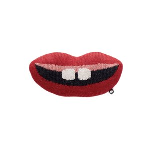 Mini Mouth Pillow - Red/Multi