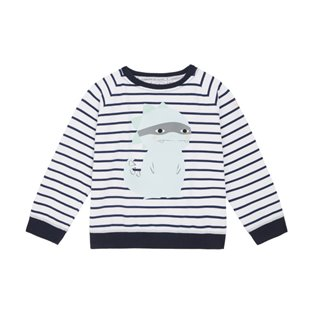 Chilled Fit Sweatshirt - Navy / White Breton Dino
