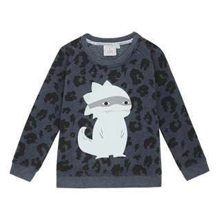Supersoft Sweatshirt - Navy Leopard