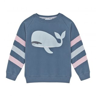 Supersoft Lucky Stripe Sweatshirt - Whale
