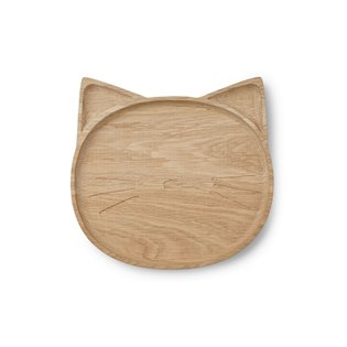 Conrad Wood Plate - Cat Natural