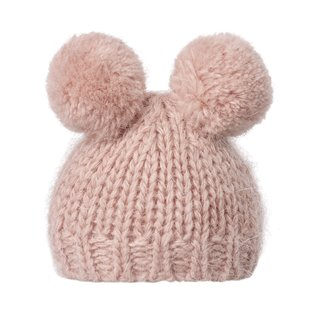 Best Friends - Knitted Pom Pom Hat - Heather