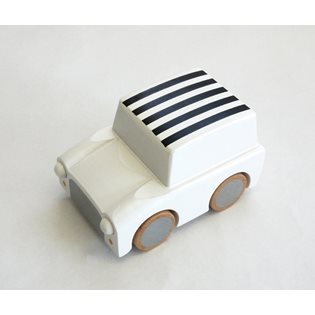 Kiko+ Kuruma Car - White With Stripes