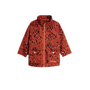 Leopard Piping Jacket - Red