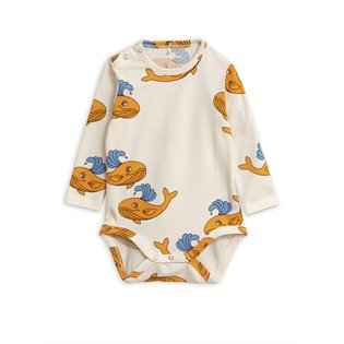 Whale AOP LS Body - Orange