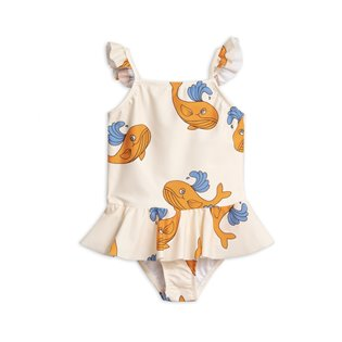 Whale Skirt Swimsuit - Orange