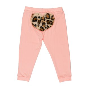 Bottom Heart Leggings - Light Pink