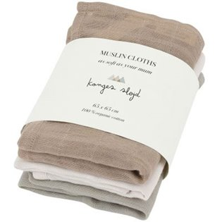 3 Pack Muslin Cloths - Rose Dust