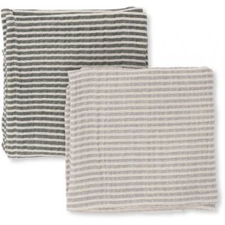2 Pack Muslin Cloths Striped - Boy