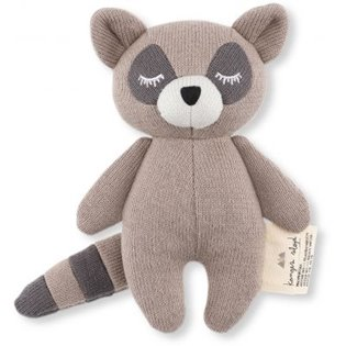 Mini Racoon Soft Toy - Brown