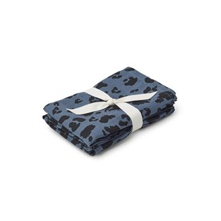 Hannah Muslin Cloths - Leo Blue Wave