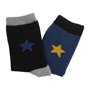 Molo Nitis Steel Blue Socks - 2 Pack