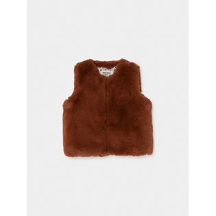 Moon Faux Fur Baby Vest