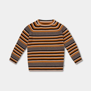Knitted Raglan Sweater - Retro Stripe