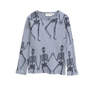 Skeleton AOP LS Tee - Blue