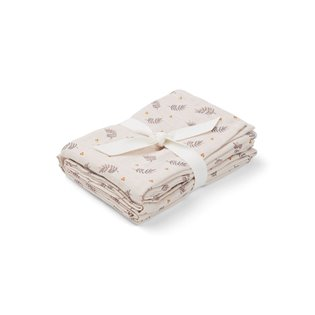 Hannah Muslin Cloths - Fern/Rose