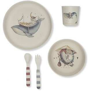 Whale Dinner Set - Nature