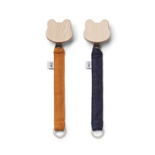 Barry Pacifier Strap 2 Pack - Mustard