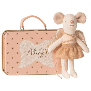 Guardian Angel in Suitcase - Little Sister Glitter Mouse