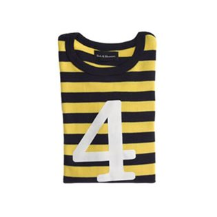 Yellow & Navy Stripe With Age