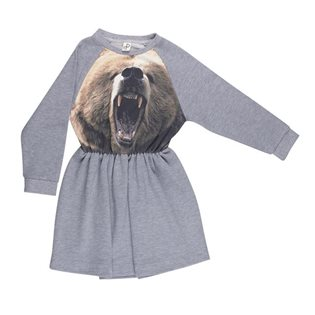Robbies Dress - Bear Print