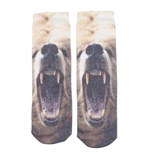 Socks - Tiger & Bear Print