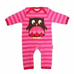 Organic Sleepsuit with Owl Applique
