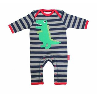 Organic Sleepsuit with T- Rex Applique