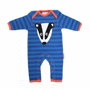 Organic Sleepsuit with Badger Applique