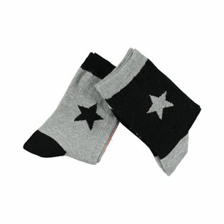 Molo Nitis Black Socks - 2 Pack