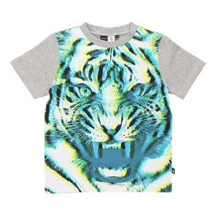 Molo Kids Renzo 3D Tiger Top - Grey Melange
