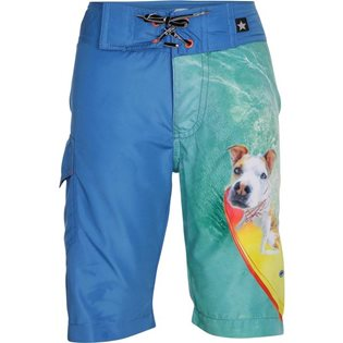 Alvaro Swim Board Shorts - Surfing Dogs