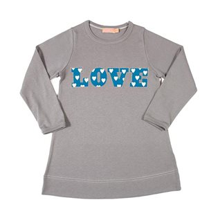 Love Heart Dress - Grey