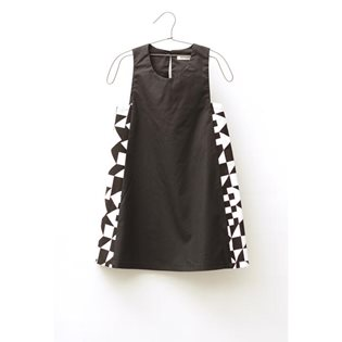 Motoreta Hidra Dress - Black & Tangram