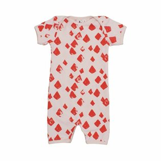 Noe & Zoe Romper Suit - Flamingo Diamonds