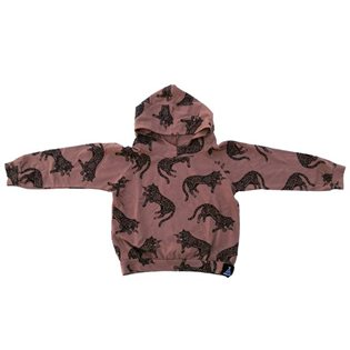 Leopard Stretch Hoodie - Brown